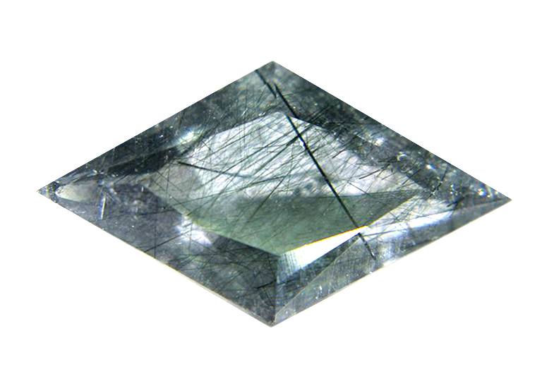 actinolite trong thạch anh